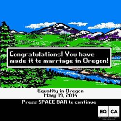 Oregon trail marriage equality